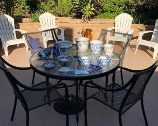 patio sets and pots