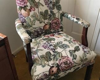 Lovely Pair of Upholstered Arm Chairs (2)