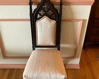 set of 6 cathedral chairs 1850s