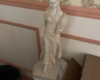"""""""lady wrapped in wheat"""" statuette"""