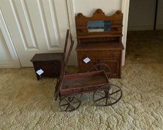 20th century salesman's samples furniture  Daisy wagon