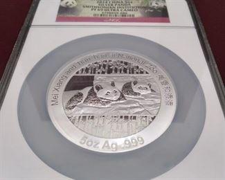 Silver Panda Coin