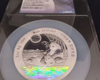 Silver Moon Festival Panda coin