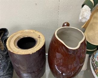 Stoneware Storage Jar and Pitcher