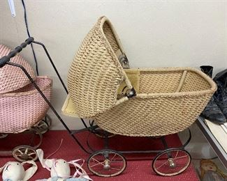 Old Wicker Stroller