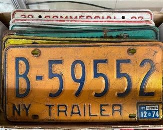 Vintage and Old License Plates