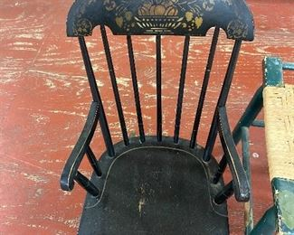 Old Stenciled Child's Rocker