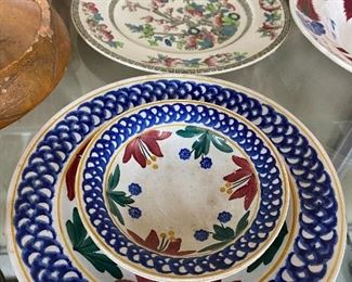 Old Villeroy & Bach Plate and Bowl