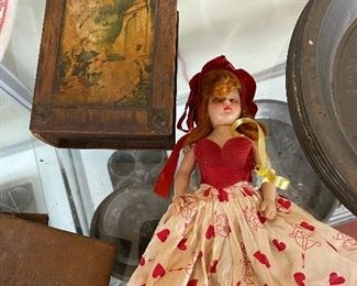 Old Valentine Doll with Card