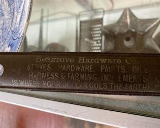 Old Seagrove Hardware Advertising Kitchen Premium