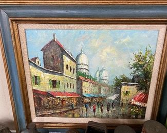 Oil on Canvas Painting(Rivira Signed)