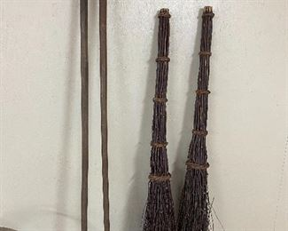 Primitive Brooms/ Walking Sticks