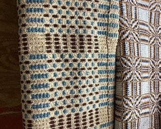 Summer Coverlet(Brown and Navy)