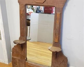 Ornate Antique Mirror w/ Shelves 48 in. x 37 in.