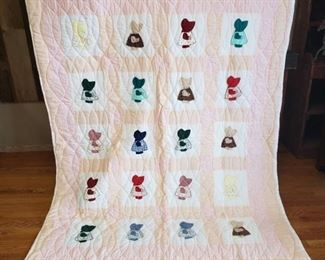 Sue Bonnet Quilt ~ 84 in. x 64 in.