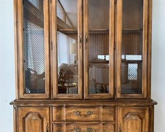 Extravagant Wood Hutch with Three Shelves