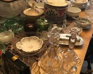 Tons of old glassware