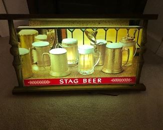 Great vintage stag beer sign