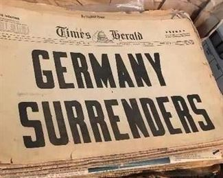 Collection of OLD NEWSPAPERS!