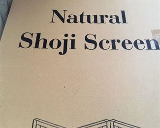 $75 each. One of two NIB. 3 Panel Shoji Screem Room Divider/Privacy Wall With Rice Paper Screen Natural Color. 71' High and 52' wide.