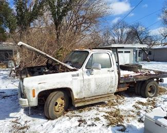 Chevy Custom Deluxe 30 Dually Truck with Flatbed