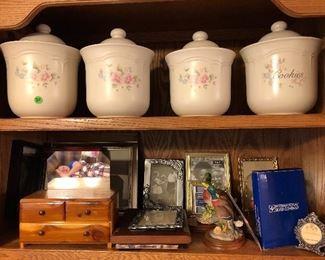 Pfaltzgraf canister set, picture frames, etc