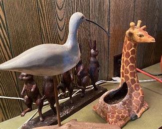 Seagull, Red Wing (?) giraffe planter