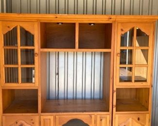 TV Cabinet Sectional with Lighted Display