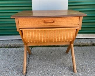 Wooden Sewing Storage Table