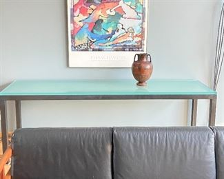 Glass top table (vase not for sale) 24d x 84w x 29 h
