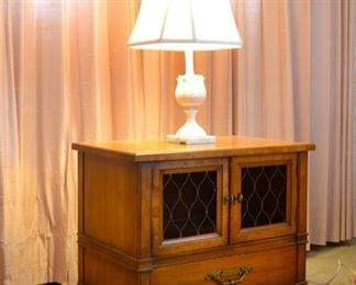 Drexel bedroom suite.  King size Headboard, nightstand, Vanity, chest of drawers, 9 drawer dresser with large mirror.