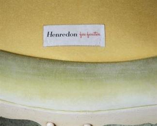 Vintage Henredon velvet chair with down cushion