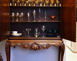 Antique Berkey and Gay dining room set.  Includes table and 4 chairs, sideboard and china cabinet.
