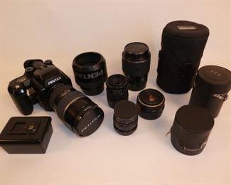 Pentax 654N camera set