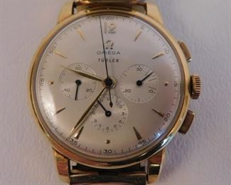 Omega 18k gold watch