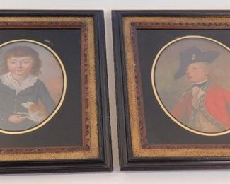Pair ca 1800 paintings