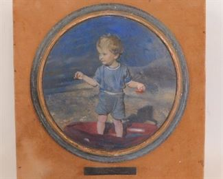 Painting of boy