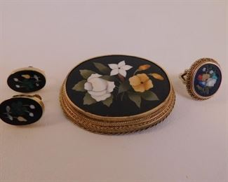 Pietra Dura gold jewels