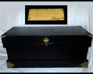Antique Electricians Box with Name Plaque