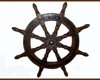 Very Nice Heavy Antique Ship's Wheel