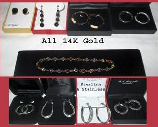 14K, Sterling and Stainless Steel Jewelry