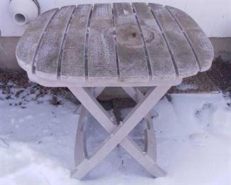 Plastic Folding Patio Table