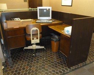Inside of receptionist station