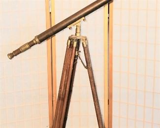 Antique Telescope Brass and Copper Stanley London