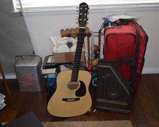Brand new Fender Guitar & vintage harpsichord