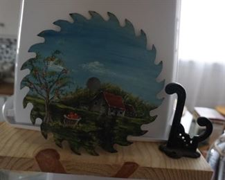 painted saw