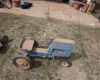 vintage toy pedal tractor