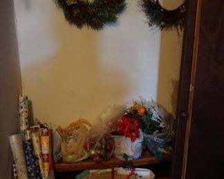 wreaths, wrapping supplies