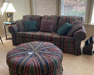 Clayton Marcus sofa with matching ottoman