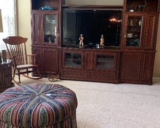 Entertainment center as well as large flat screen tv!
